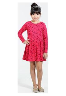 Vestido Infantil Estampa Estrelas Marisa