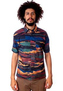 Camisa Andy Roll Desert Multicolorida