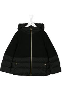 Herno Kids Padded Hooded Coat - Preto