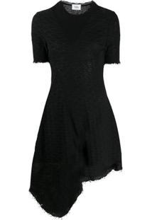 Vejas Vestido Assimétrico De Tricô - Preto
