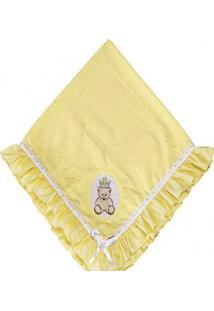 Manta Em Lese 1 Peça Amarela - Tricae