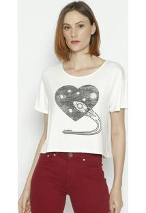 "Camiseta ""Foguete"" - Off White - Sommersommer"