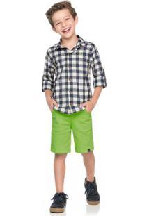 Camisa Xadrez Infantil Azul