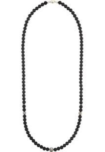 Nialaya Jewelry Colar Em Prata De Lei Com Ônix - Preto