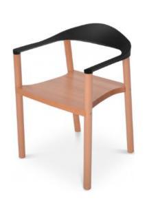 Cadeira Wood Falkk Fl-002 Preta