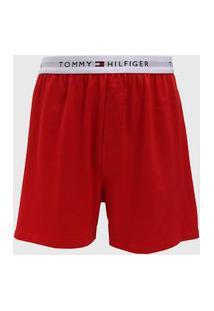 Bermuda Tommy Hilfiger Logo Vermelha