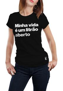 Camiseta Hunter Litrão Aberto Preta