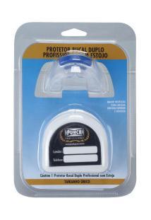 Protetor Bucal Duplo Punch Profissional Com Estojo - Transparente