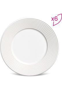Jogo De Pratos Para Sobremesa Argos- Branco- 6Pã§S