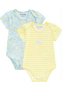 Body Bebê Menina Amarelo