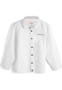 Camisa Milon Menino Padronagens Branca