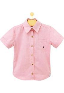 Camisa Infantil Pandi Ilhós Masculina - Masculino-Rosa