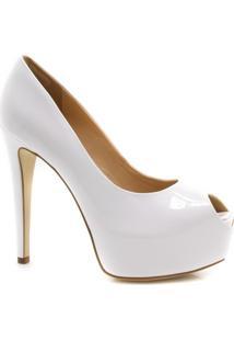 Sapato Peep Toe Cecconello Verniz