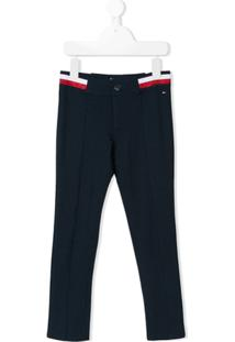 Tommy Hilfiger Junior Logo Trousers - Azul