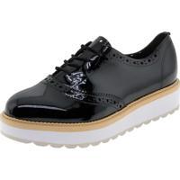 18c148b93a Clóvis Calçados. Sapato Feminino Oxford Verniz Preto ...