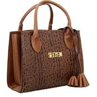 bb32ace89 Bolsa Sanfonada Handbag Feminina Marrom Selten
