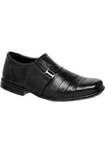 Sapato Social Infantil Leoppé Em Couro Legítimo Com Solado Em Borracha Masculino - Masculino-Preto