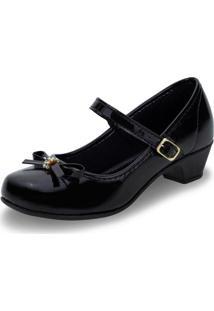 Sapato Infantil Feminino Bonekinha - 31001 Verniz/Preto 01 29