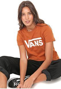 Camiseta Vans Wm Flying Caramelo - Caramelo - Feminino - Dafiti