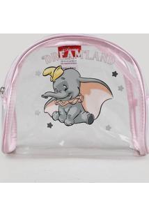 Nécessaire Feminina Dumbo Rosa Claro - Único