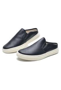 Sapato Masculino Mule De Couro Preto