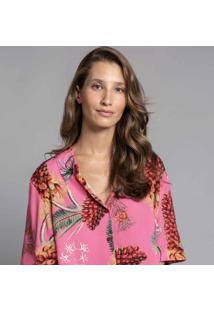 Camisa Cropped Estampa Floriade - Lez A Lez