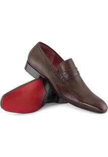 Sapato Clássico Albanese Masculino - Masculino-Marrom
