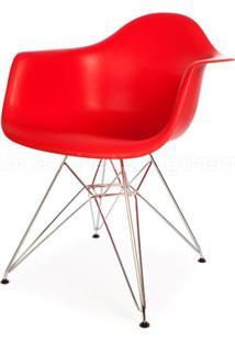 Cadeira Eames Com Braco Cromada Vermelho Fosco - 18186 Sun House
