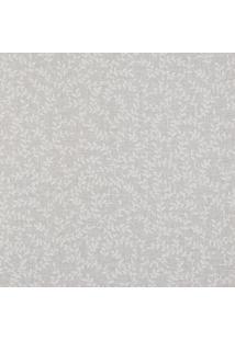 Papel De Parede- Cinza Claro & Off White- 1000X52Cm
