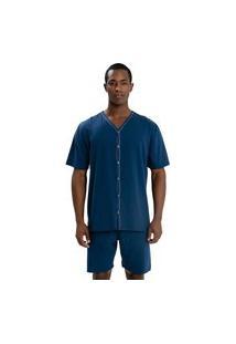 Pijama Recco Aberto Em Malha 100% Algodáo