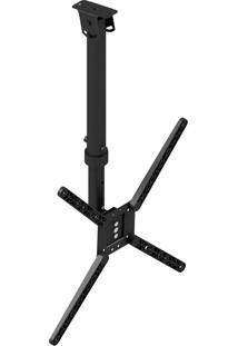 Suporte De Teto Para Tv 10 A 55 Pol Avatron Sti-730Ttg Inclinado Preto