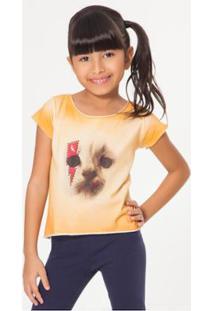 Camiseta Infantil Rock Felina Reserva Mini Feminina - Feminino