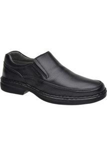 Sapato Sapatoterapia Comfort Couro De Carneiro Preto 45203 - Masculino