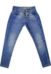 Calça Jeans Infantil Oznes Menina Azul - 10