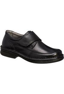 Sapato Sapatoterapia Conforto Couro De Carneiro Preto 41803 - Masculino