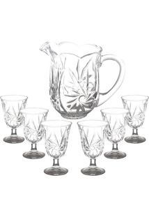 Conjunto De Jarra Com Taças Prima Luxo- Cristal- 7Pçlyor