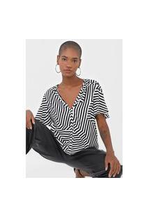 Camiseta Forum Listrada Preta/Off-White