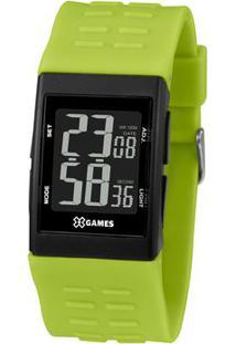 Relógio Digital Quartz Xgppd122Pxfx- Preto & Verde Militorient