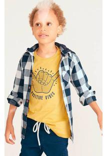 Camisa Infantil Menino Com Capuz