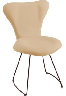 Cadeira Jacobsen Meia Lua Linho Bege