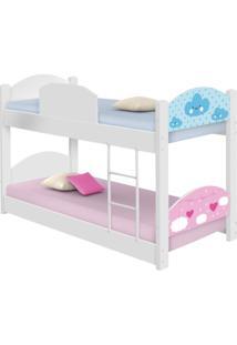 Beliche Infantil Nuvem Menino E Menina Casah - Branco/Multicolorido - Dafiti