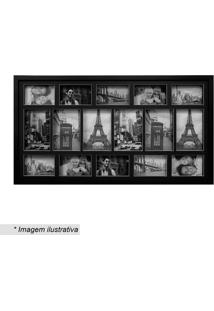 Painel Bee Collection Para 16 Fotos- Preto- 48X88Cm