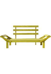 Sofá Country Comfort Sofá Cama Sem Almofada Amarelo Mão E Formão