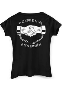 Camiseta Pitty Livre By Bandup Feminina - Feminino-Preto