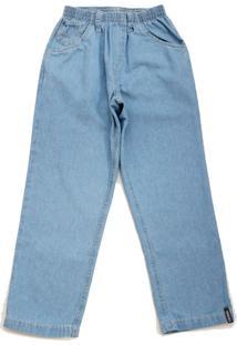 Calã§A Jeans Masculina Com Elã¡Stico Toing Clara - Azul/Jeans - Menino - Algodã£O - Dafiti
