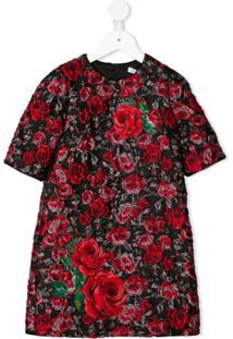 Dolce & Gabbana Kids Vestido Jacquard Midi - Vermelho