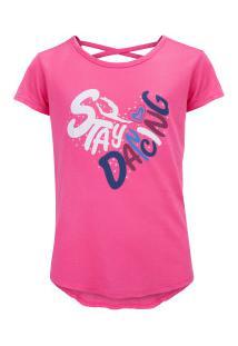 Camiseta Oxer Go Girl Feminina - Infantil - Rosa