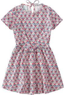 Vestido Em Meia Malha Bolinhas Menina Malwee Kids Rosa Claro - M