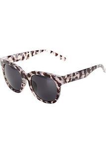 Óculos De Sol Marielas Tartaruga Feminino - Feminino-Preto