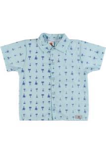 Camisa Infantil By Gus Manga Curta - Masculino-Verde